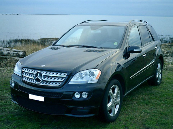 Mercedes ML320 car hire (on the beach) from  Val & Kar Rent a car