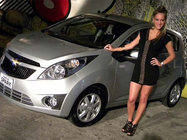 Chevrolet Spark car hire (front-size) from  Val & Kar Rent a car