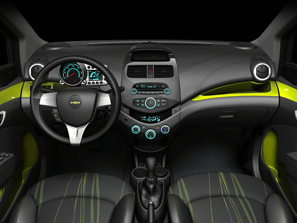 Chevrolet Spark car hire (interior) from  Val & Kar Rent a car