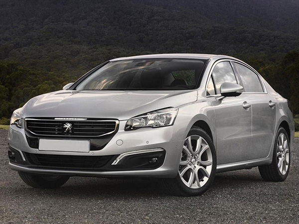 Peugeot 508 car hire (front) from  Val & Kar Rent a car
