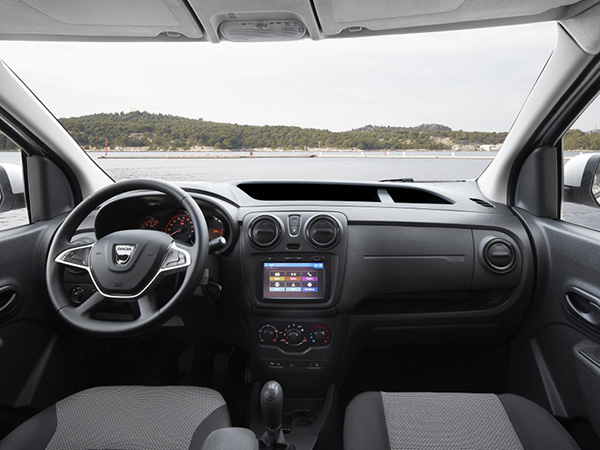 Dacia dokker SW car hire (seats view) from  Val & Kar Rent a car