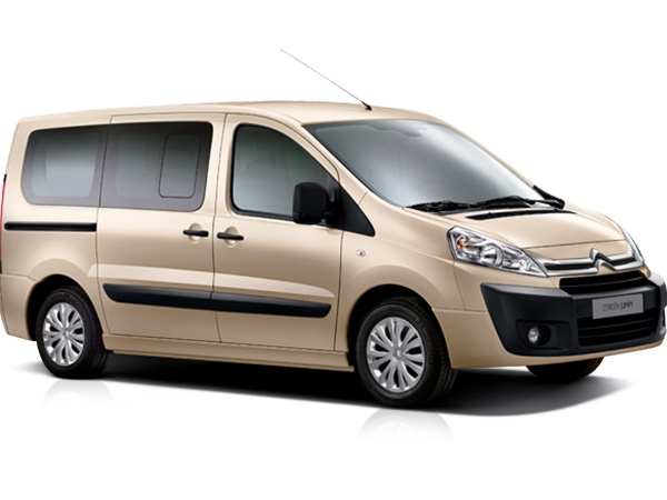 Citroen Jumpy (8+1) car hire (brown color) from  Val & Kar Rent a car