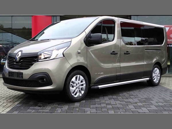 Renault Trafic (8+1) car hire (back) from  Val & Kar Rent a car